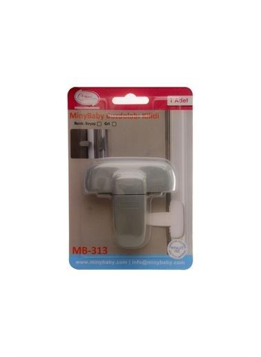 Miny Baby MB-313 Mandallı Buzdolabı Kilidi Gri Gri